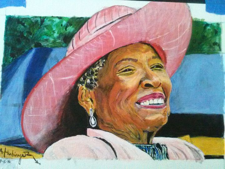 Maya Angelou - art by Adam Hubinger