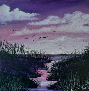 Sunset on the Marshlands