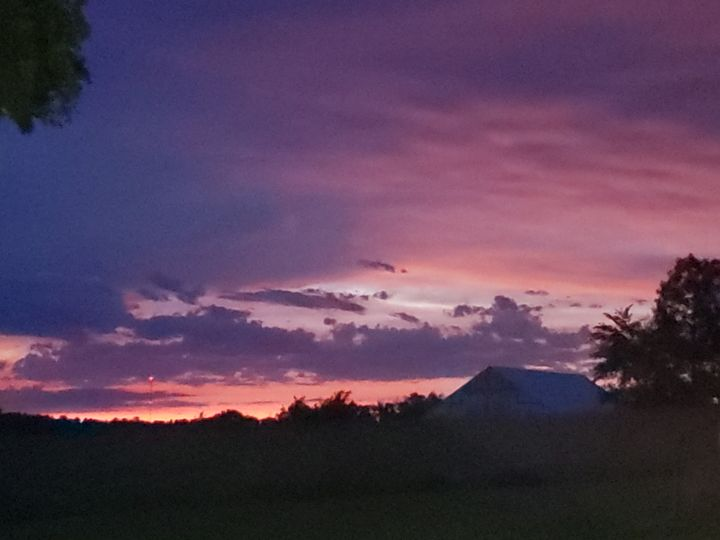 Country Sunset in Missouri - Duron Arts