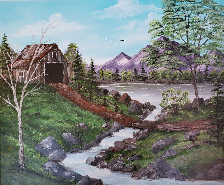 Barn by the Lake - Duron Arts