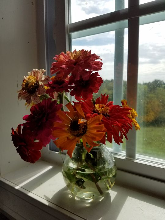 Fall Zinna Bouquet - Duron Arts