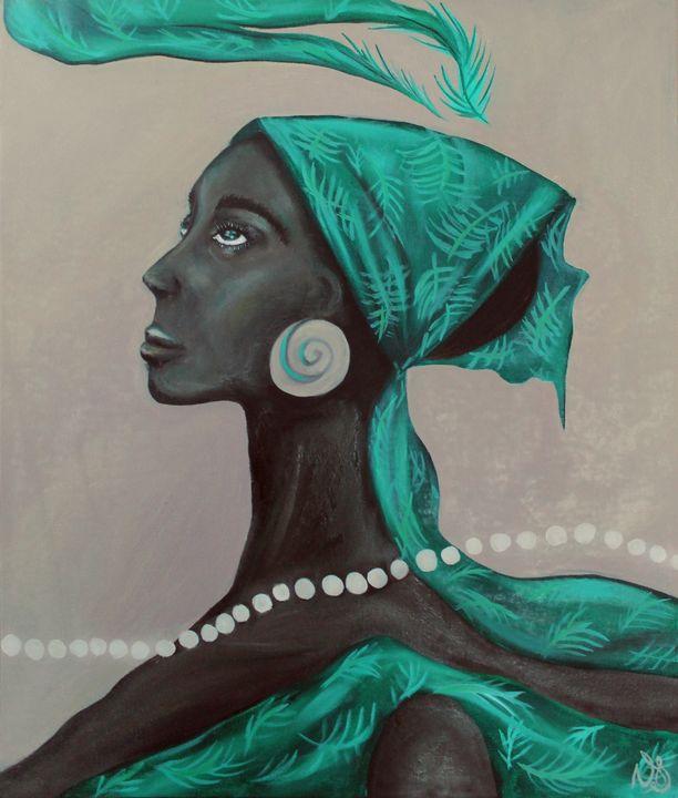 Emerald Scarf - Vanessa T Stefanova