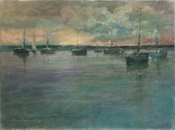 Boote auf dem See - Milan Andric