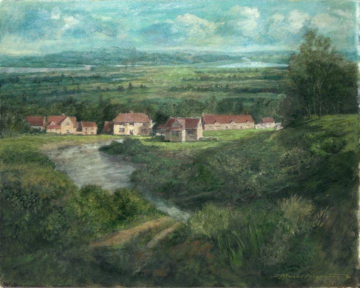 Dorf am Fluss  [Riverside village] - Milan Andric