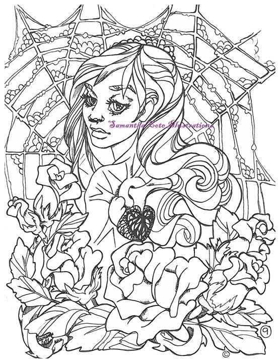 Page 9, Coloring Book - Samantha Cote Illustrations