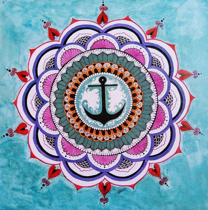 Anchor mandala - Suji's art