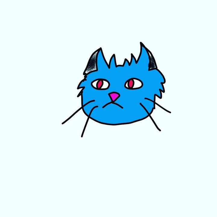Chat Bleu - laura's art dumpster