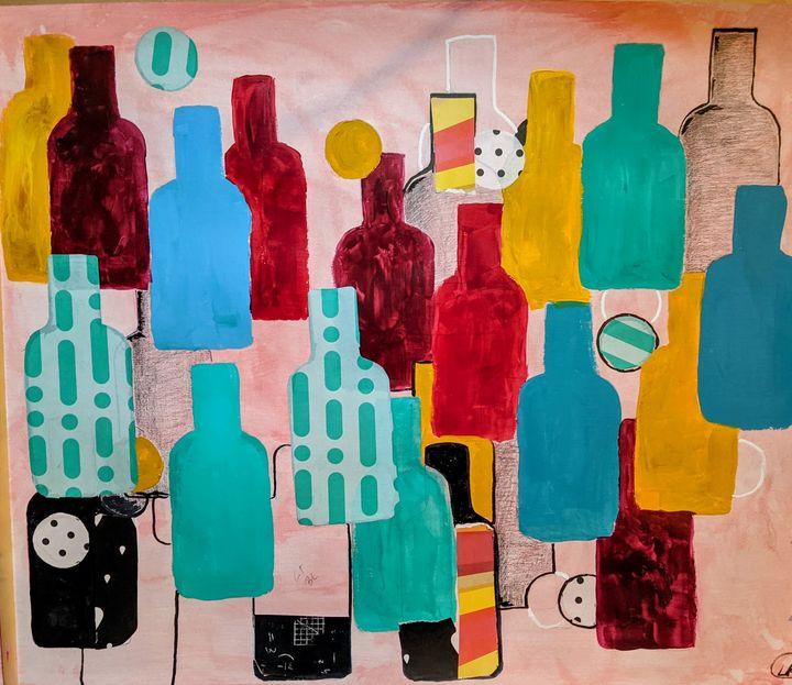 Twenty-something bottles - laura's art dumpster
