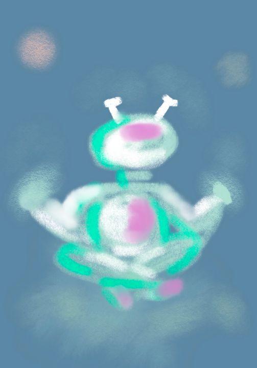 Namaste in Space (Self Portrait) - laura's art dumpster