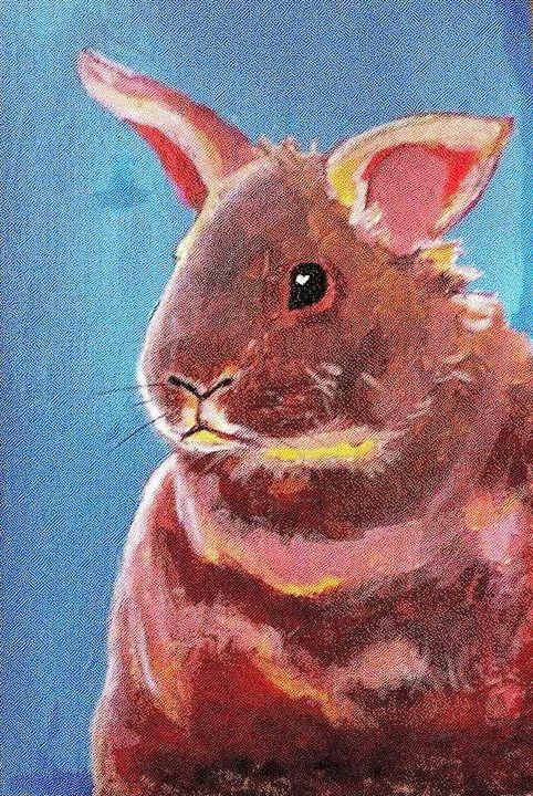 Red Rabbit - laura's art dumpster