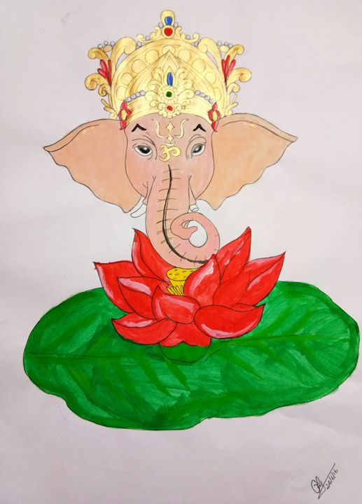 Lord Ganesha - Art by Geetha