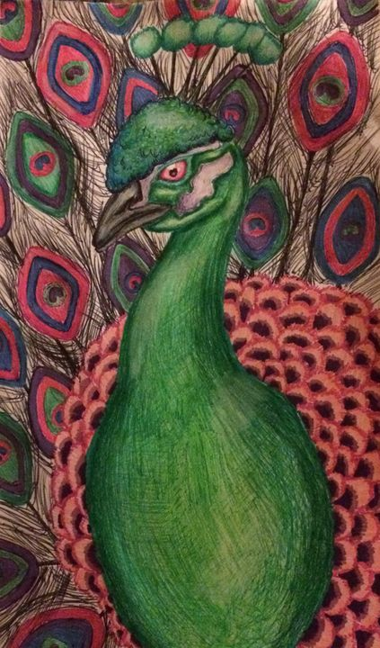 The Peacocking - Art Dumpster