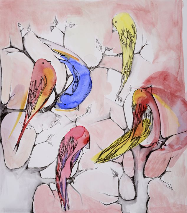 Birds - The Fine Black Pen