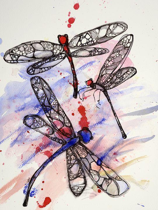 Dragonflies - The Fine Black Pen