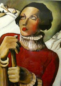 Copy of tamara de Lempicka in Oil.