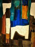 Original abstract painting .