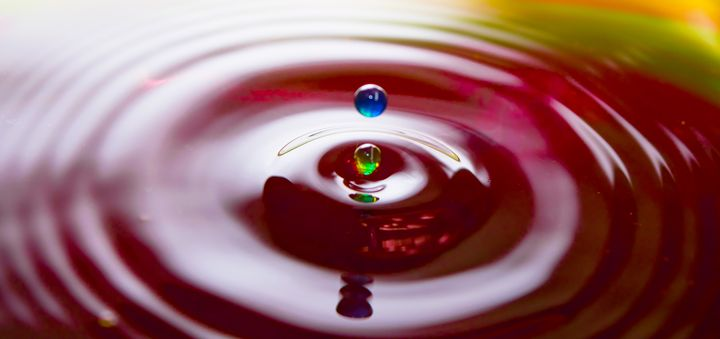 Coloured Drops - Rocket Cottage Photography