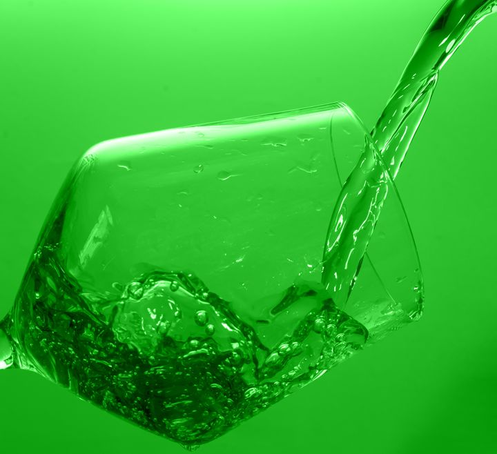 Water in Glass - Green - Rocket Cottage Photography