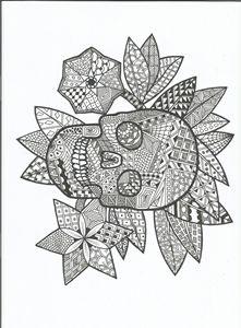 skull zen tangle