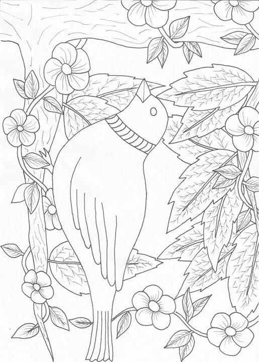 Bird,flowers,leafs - dragan
