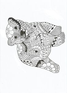 Zentangle teddy