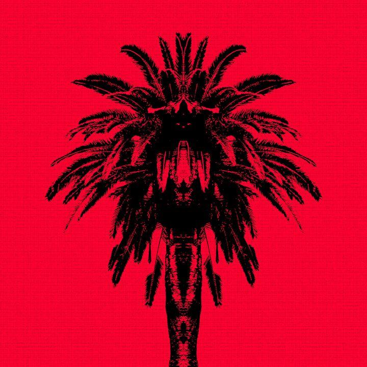 Palm Tree - Red Sky - Edouard Morningstar