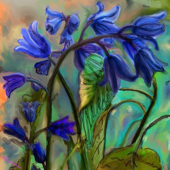 Blue bells art - Karen Harding Artist