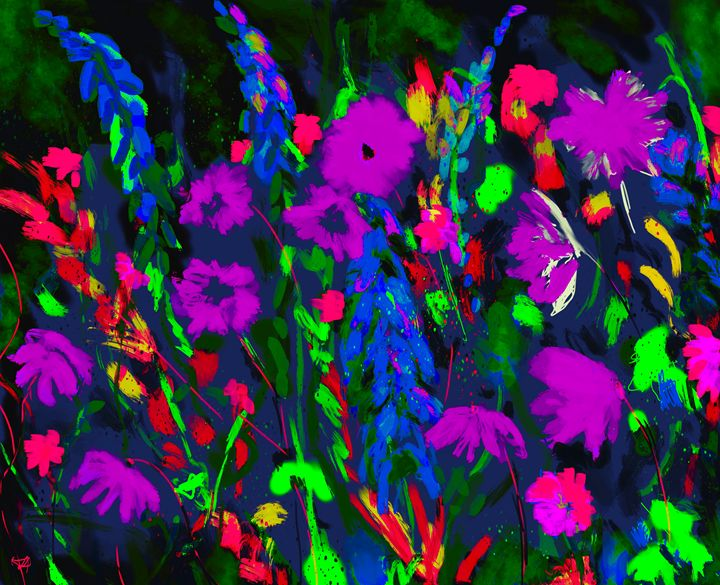 Colorful garden art - Karen Harding Artist