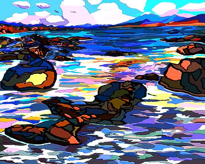 Vivid Seascape - Karen Harding Artist
