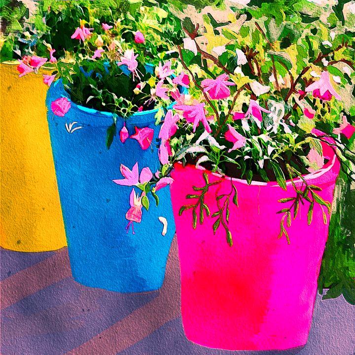 Pretty Pots Karen Harding Artist Paintings Prints Flowers