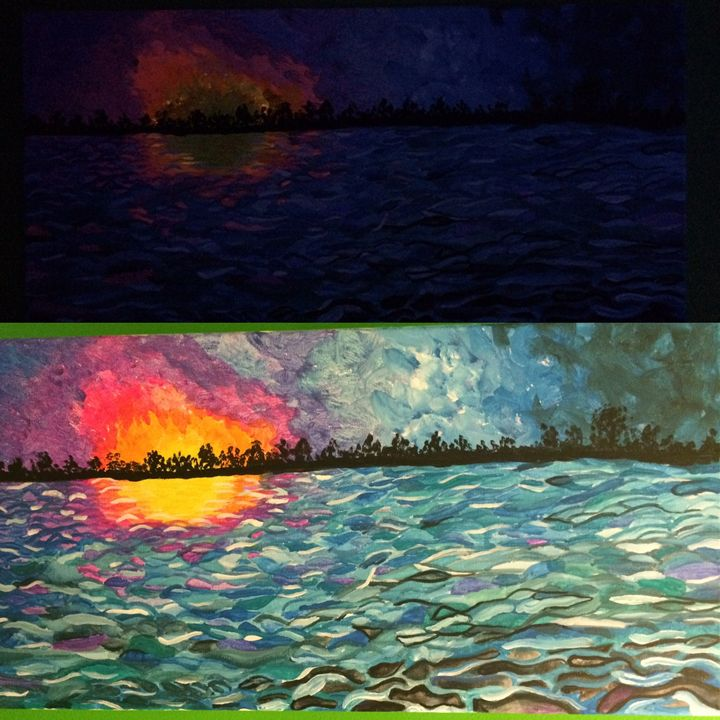 Lake Ontario Sunset - Violet Expressions