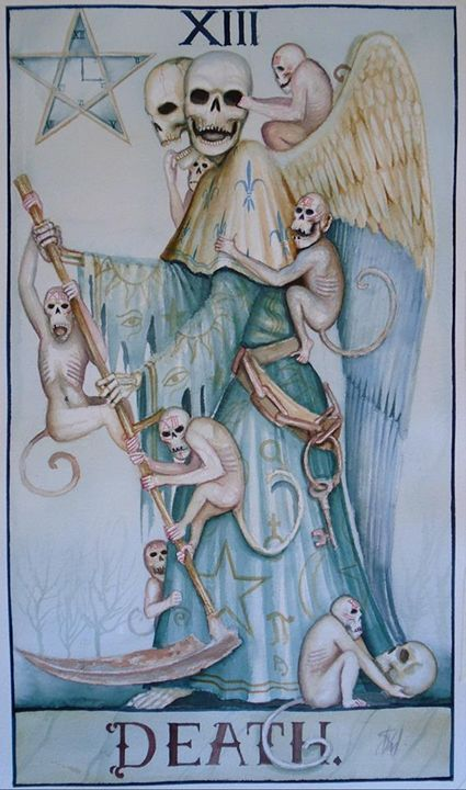 Tarot death card - Dominic Murphy Art