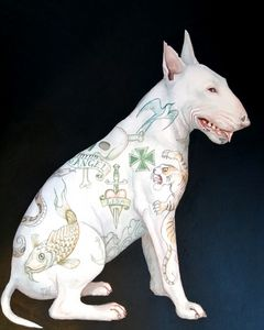 English bull terrier Angel
