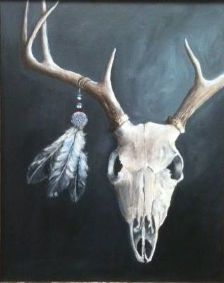 Skull and Feathers - Gunnell's Studio