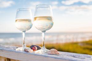 White Wine On The Beach - Mark McElroy