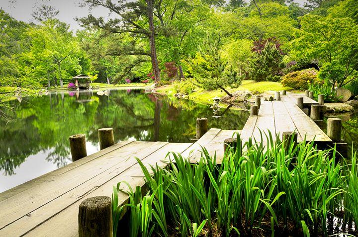 Bridge Over Koi Pond - Mark McElroy