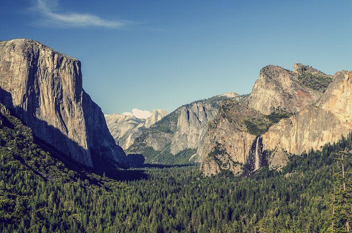 Yosemite Entrance Vintage Blue - Mark McElroy
