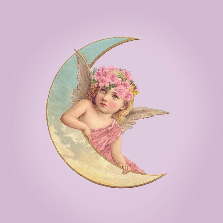 Victorian Moon Angel - Leah McPhail