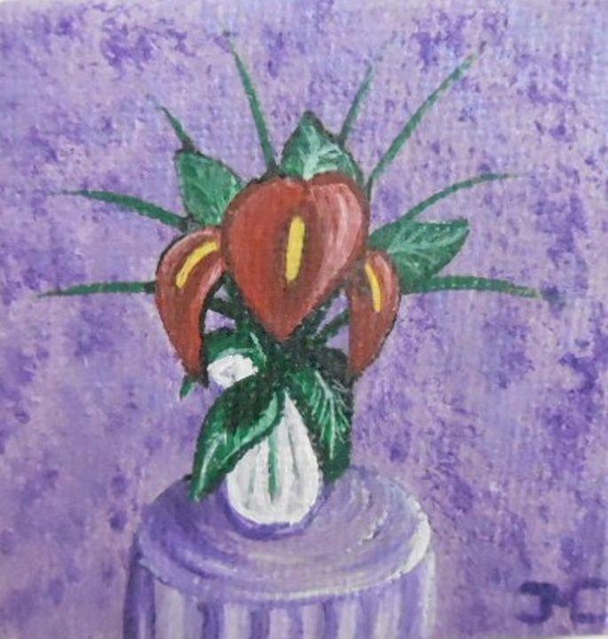 red anthurium flowers - JMC Arts & Crafts