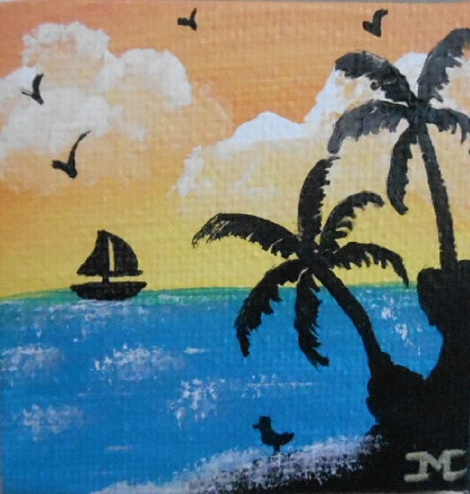 Sailing at sunset - JMC Arts & Crafts