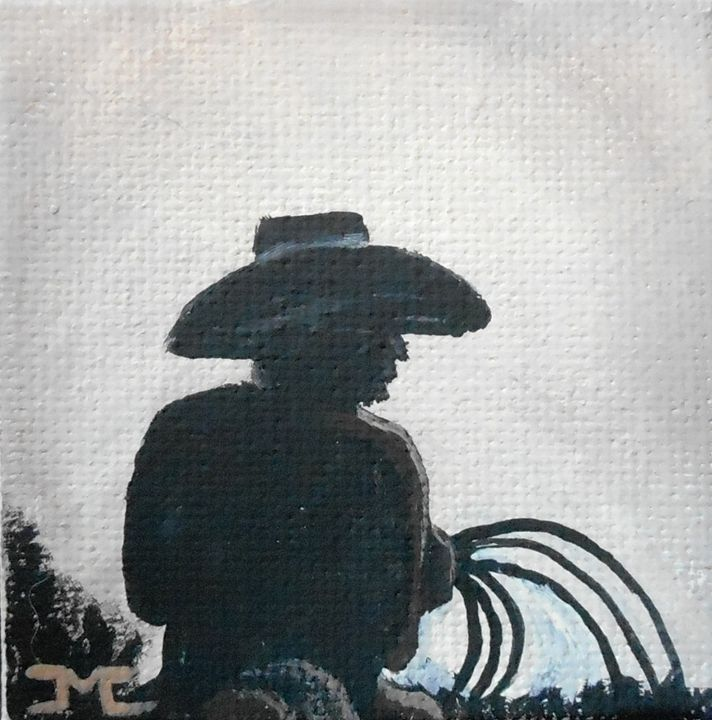 Cowboy Silhouette - JMC Arts & Crafts