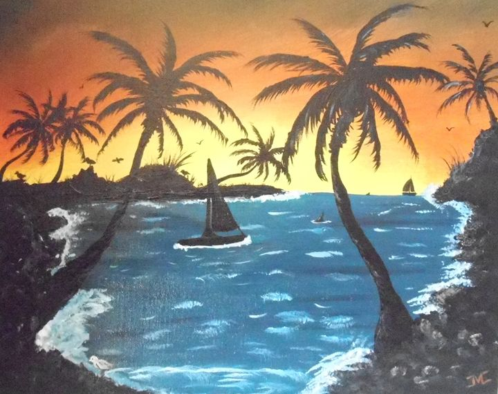 Tropical Sunset - JMC Arts & Crafts