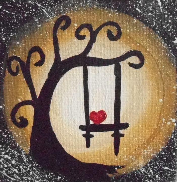 Heart on a swing - JMC Arts & Crafts