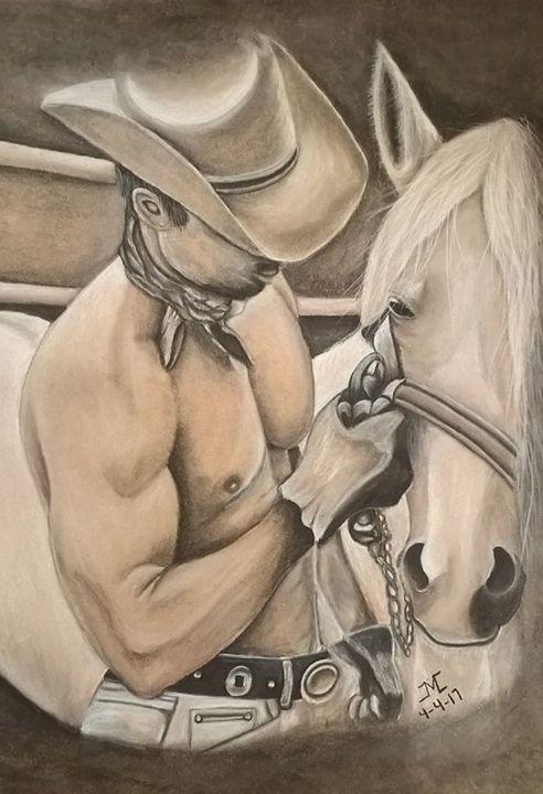 Hot Cowboy With Horse - JMC Arts & Crafts
