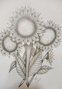 Sunflowers x4 - JMC Arts & Crafts