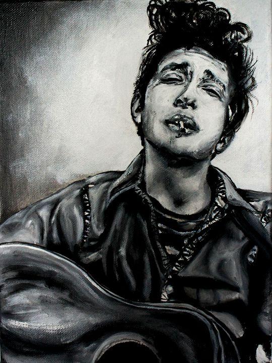 Young Bob Dylan - Lady Kane Designs