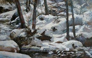 Nieve a la orilla del rio - tomascastano