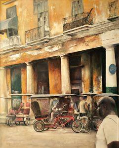 Bike-Taxi station- Old Havana