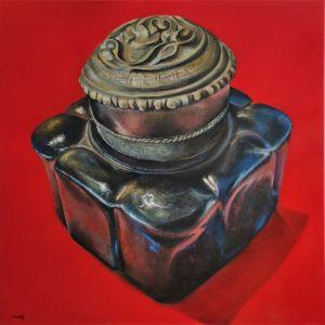 Indian glass inkwell