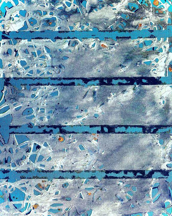Turquoise abstract - Phillip Trujillo Art
